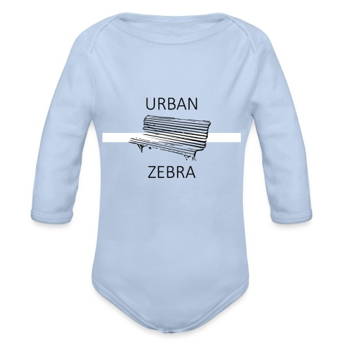 Zèbre urbain - Body Bébé bio manches longues