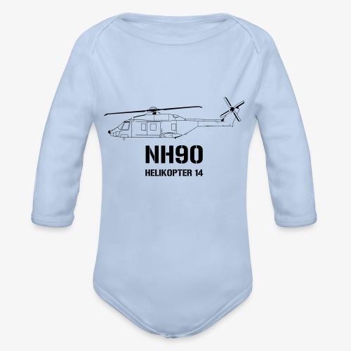 Helikopter 14 - NH 90 - Ekologisk långärmad babybody
