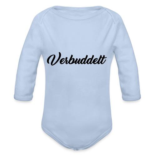 Verbuddelt Schriftzug - Baby Bio-Langarm-Body
