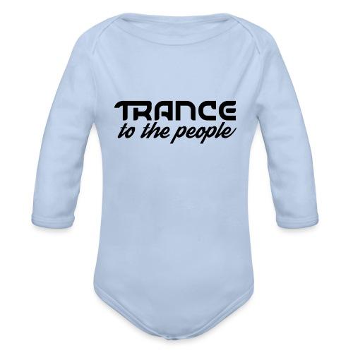 Trance to the People Sort Logo - Langærmet babybody, økologisk bomuld