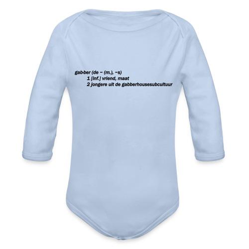 gabbers definitie - Baby bio-rompertje met lange mouwen