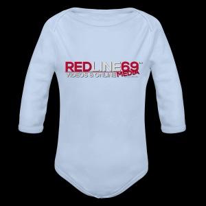 Redline69 Media Logo - Organic Longsleeve Baby Bodysuit
