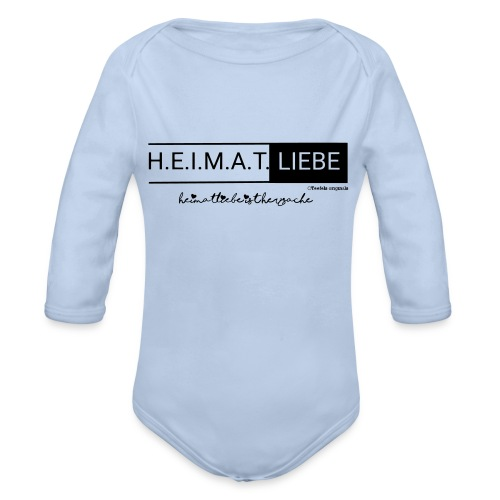 Heimatliebe Herzsache - Baby Bio-Langarm-Body