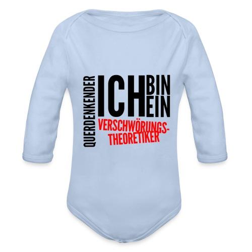 Ich bin querdenkender VERSCHWÖRIGSTHEORETIKER - Baby Bio-Langarm-Body