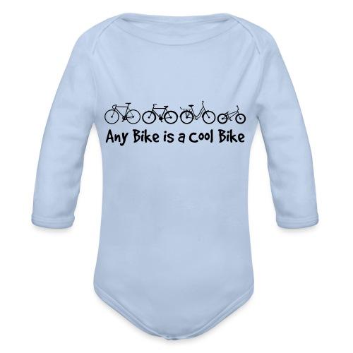 Any Bike is a Cool Bike Kids - Organic Longsleeve Baby Bodysuit
