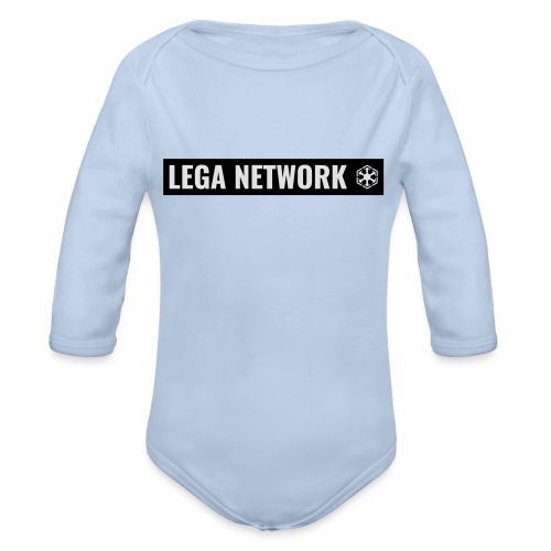 Tazza Logo Lungo Nero - Body ecologico per neonato a manica lunga
