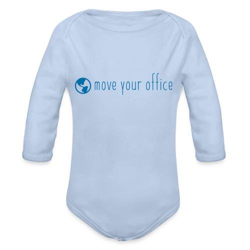 Das offizielle move your office Logo-Shirt - Baby Bio-Langarm-Body