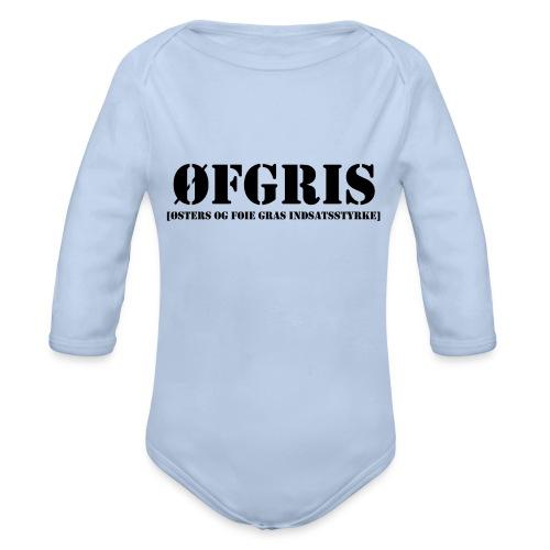 ØFGRIS - Børnekollektion - Langærmet babybody, økologisk bomuld