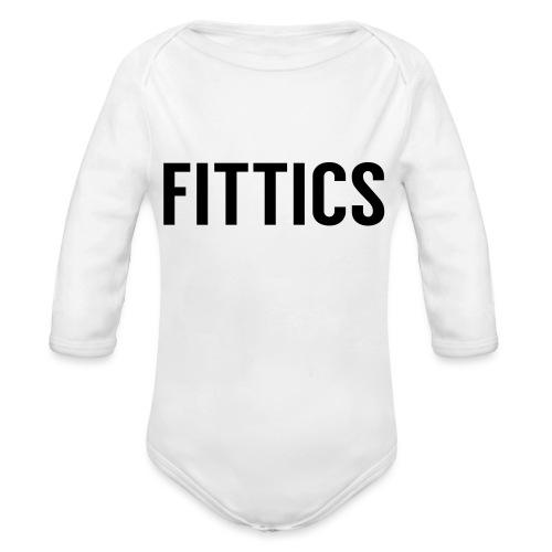 FITTICS Bold Black - Organic Longsleeve Baby Bodysuit