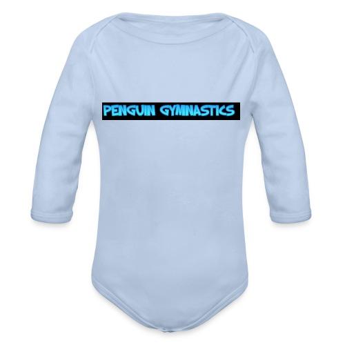 The penguin gymnastics - Organic Longsleeve Baby Bodysuit
