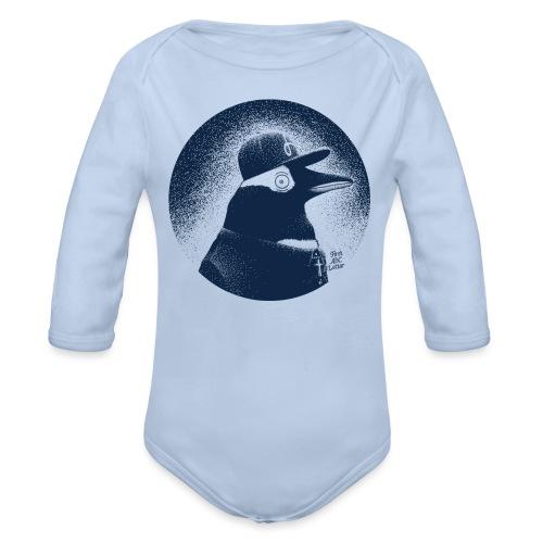 Pinguin dressed in black - Organic Longsleeve Baby Bodysuit
