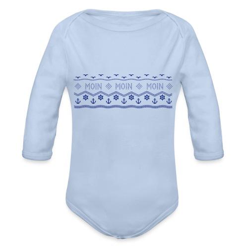 Muster Nordisch Maritim - Baby Bio-Langarm-Body