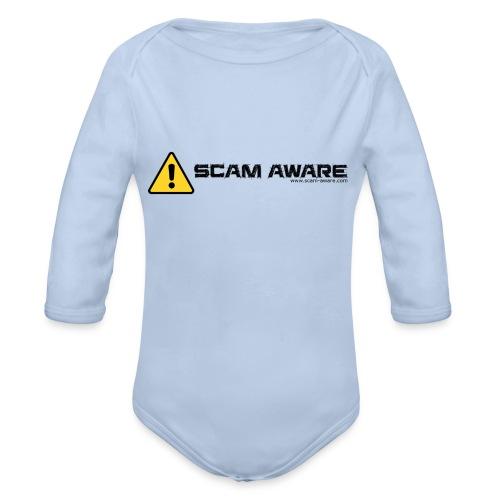 Scam Aware Phone Case's - Organic Longsleeve Baby Bodysuit