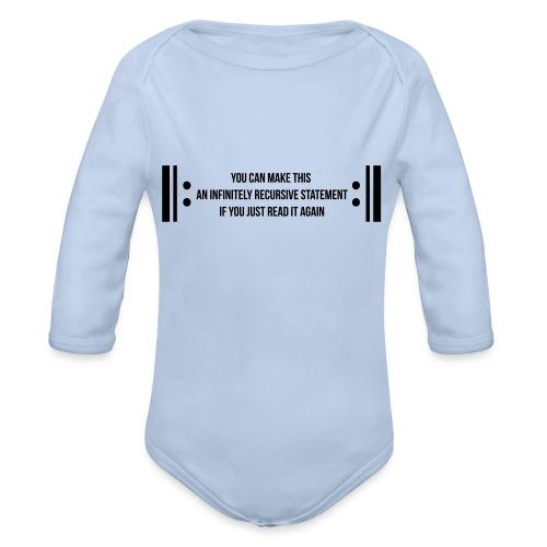 Infinite Recursion - Organic Longsleeve Baby Bodysuit