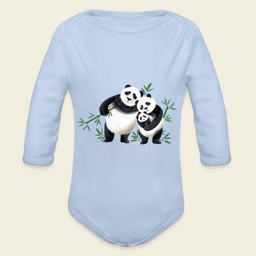 Pandafamilie Baby - Baby Bio-Langarm-Body