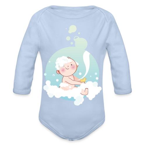 Umstandsmode T-Shirt mit Motiv - Baby Bio-Langarm-Body