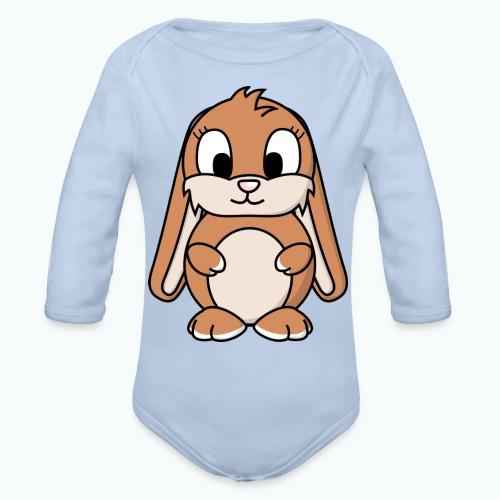 Lily Bunny - Appelsin - Ekologisk långärmad babybody