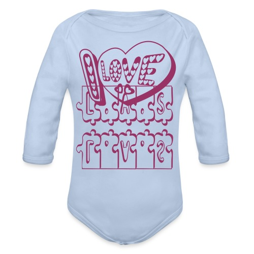 I Love heart tattoo - Organic Longsleeve Baby Bodysuit