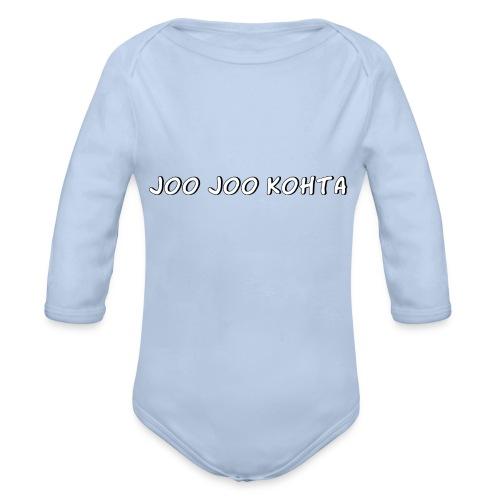 Joo joo kohta - Vauvan pitkähihainen luomu-body