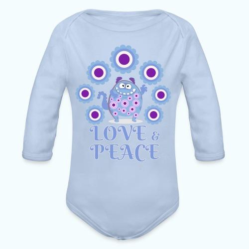 Hippie monster - Organic Longsleeve Baby Bodysuit