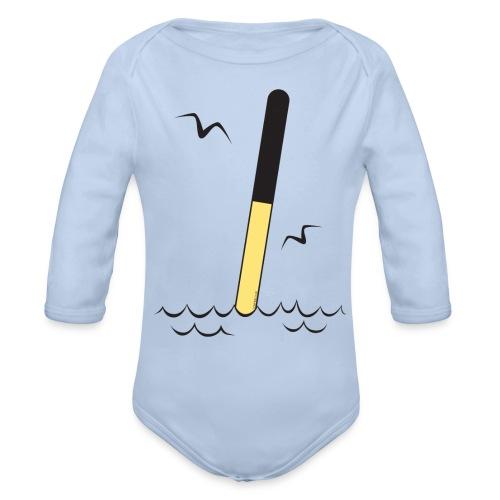 POHJOISVIITTA Merimerkit, tekstiilit ja lahjat - Vauvan pitkähihainen luomu-body