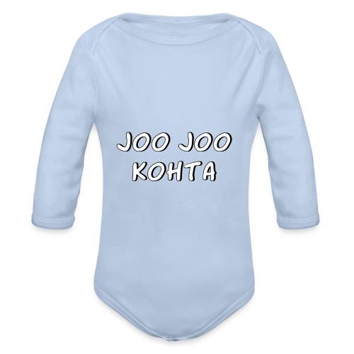 Joo joo kohta 2 - Vauvan pitkähihainen luomu-body
