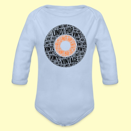Lindy Hop Dance vintage Tanz T-shirt - Baby Bio-Langarm-Body