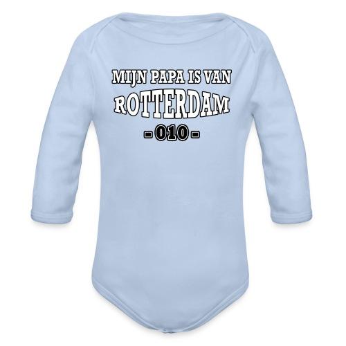mijn papa Rotterdam - Baby bio-rompertje met lange mouwen