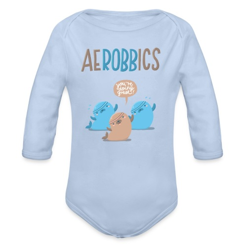 Aerobbics funny - Baby Bio-Langarm-Body
