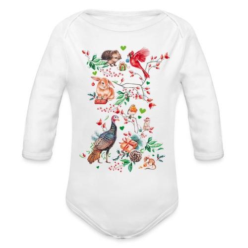 Happy vegan holidays! - Organic Longsleeve Baby Bodysuit