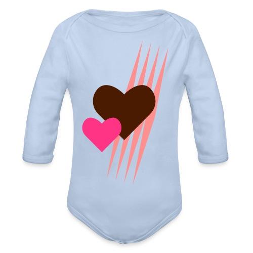 Teddy.Kidswear. – Hearts - Baby Bio-Langarm-Body