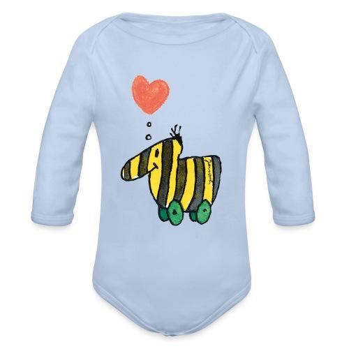 Janoschs Tigerente mit Herz - Baby Bio-Langarm-Body