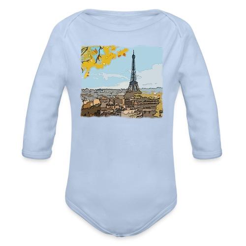 Tour Eiffel de Paris - Body Bébé bio manches longues