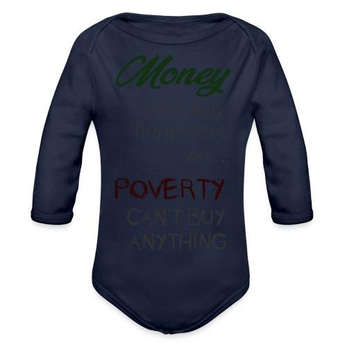 Money can't buy happiness - Body ecologico per neonato a manica lunga