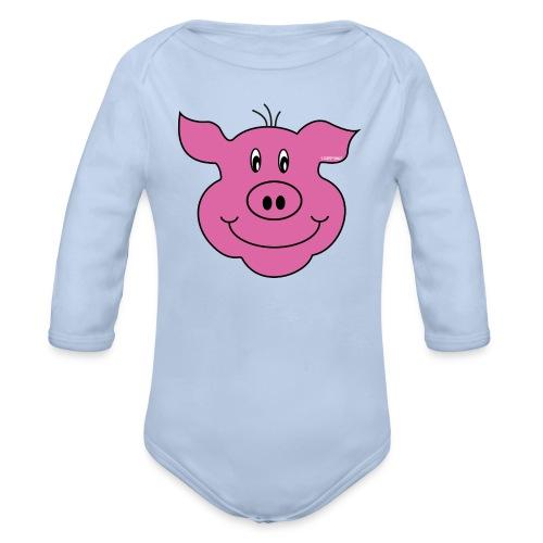 S33 Kids Schwein - Baby Bio-Langarm-Body