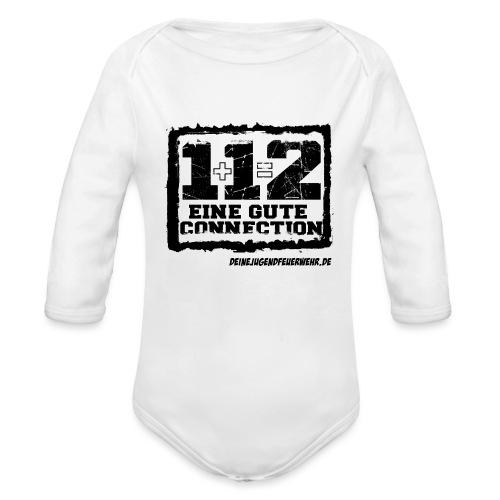 1+1=2 Logo - Baby Bio-Langarm-Body