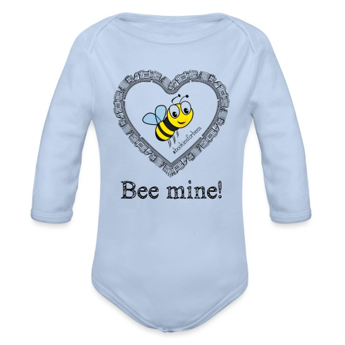 Bees3-1 save the bees | bee mine! - Organic Longsleeve Baby Bodysuit