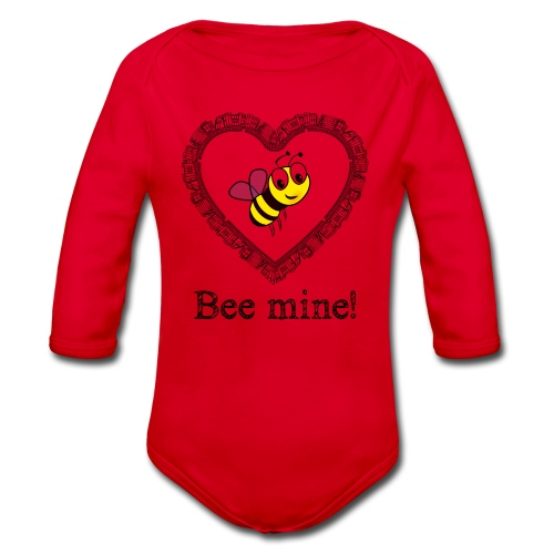 Bees3-2 save the bees | bee mine! - Organic Longsleeve Baby Bodysuit