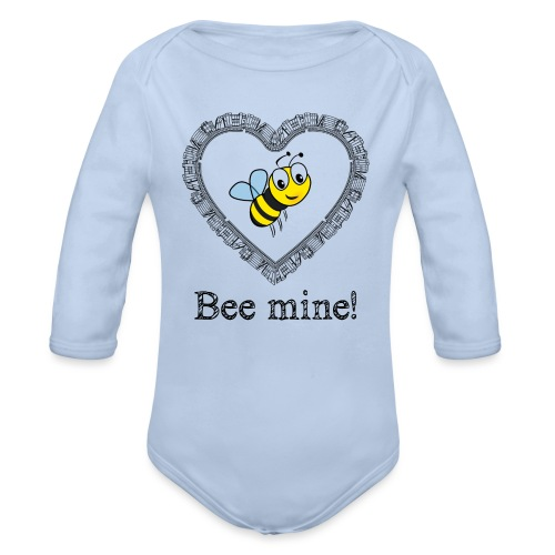 Bees3-2 save the bees | bee mine! - Organic Longsleeve Baby Bodysuit