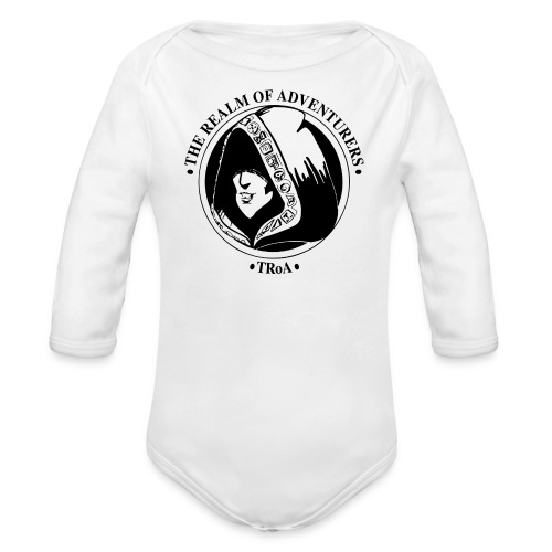 TRoA Logo Sort - Langærmet babybody, økologisk bomuld