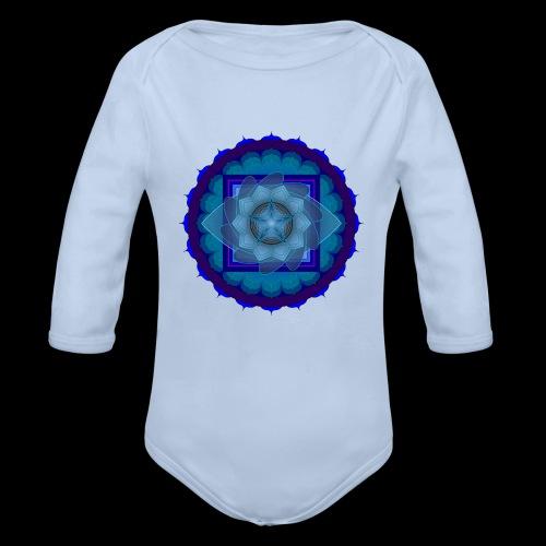 mandala 4 - Organic Longsleeve Baby Bodysuit
