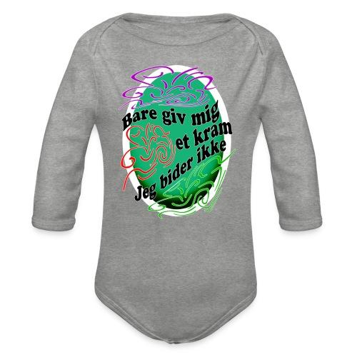 Giv Mig Et Kram - Langærmet babybody, økologisk bomuld
