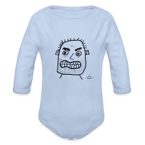 Vit T-shirt Gubben - Ekologisk långärmad babybody