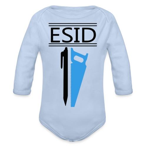 ESID Zwart-blauw - Baby bio-rompertje met lange mouwen