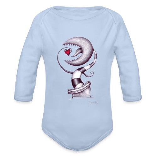Carnivora Pianta Mangia Amore - Body ecologico per neonato a manica lunga