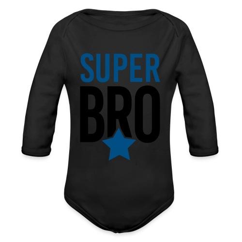 Super BRO Bruder schwanger Geschenk Babybody - Baby Bio-Langarm-Body