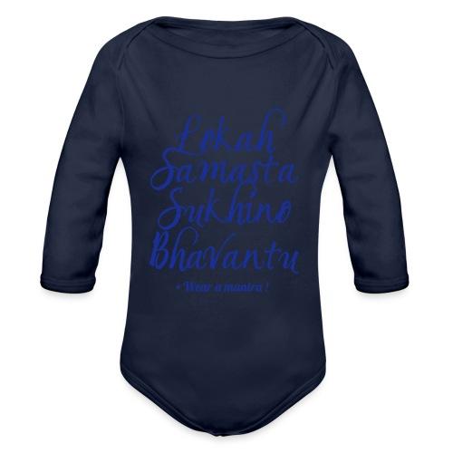 LOKAH SAMASTA - Body ecologico per neonato a manica lunga