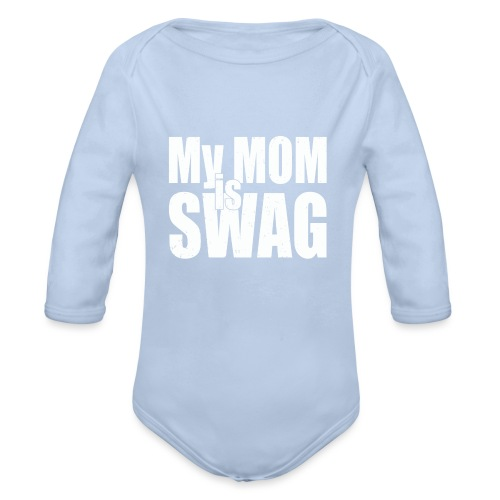 Swag White - Baby bio-rompertje met lange mouwen