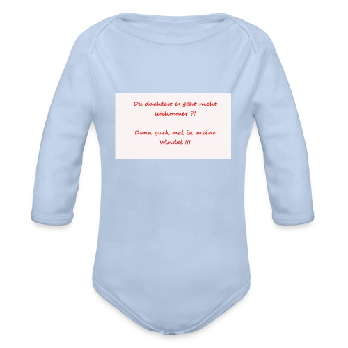 Windelspruch - Baby Bio-Langarm-Body