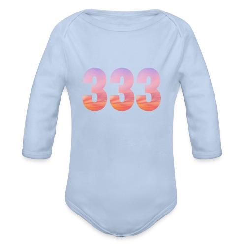 333 vous étes entouré de maitres ascensionnés - Body Bébé bio manches longues